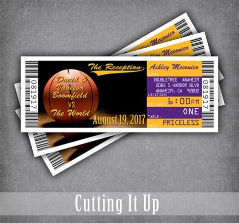 ticket place cards template basketball ticket cards ticket seating cards