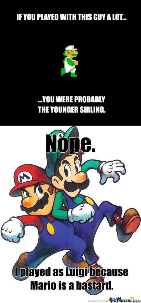 Luigi Meme - mario vs luigi by pnutcracker meme center
