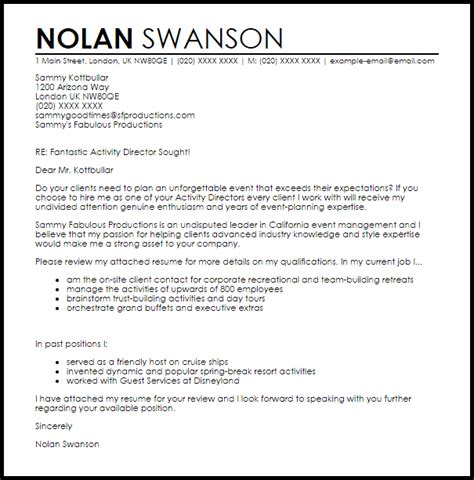 cover letter sle for director position career builder cover letter 20 images family emergency