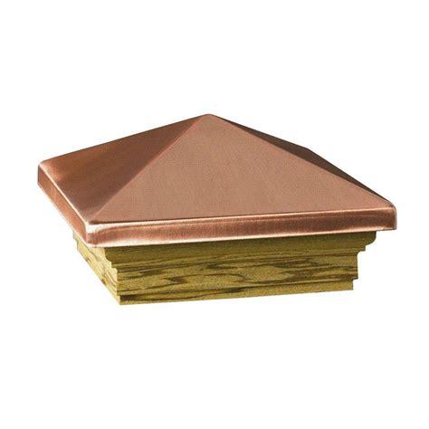 copper l post tops deckorail verona 4 in x 4 in copper high point pyramid