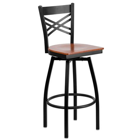 wood swivel bar stools with backs flash furniture xu 6f8b xswvl chyw gg hercules series