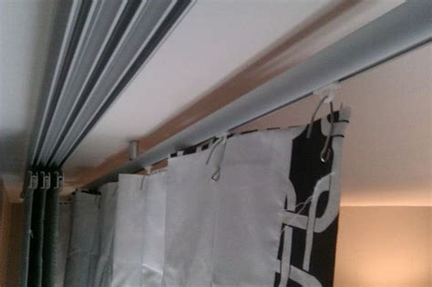 Hanging Ceiling Track Curtains Decorating Updates And