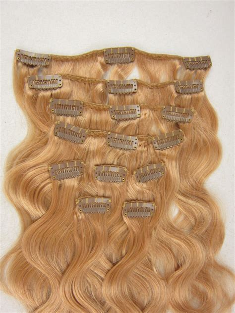 Shedding Weave by Clip In Hair Weave Extension Color 8 Top Quality Peruvian