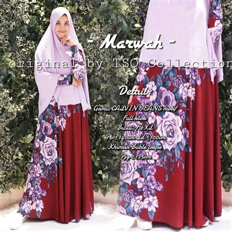 Jasmien Jumbo Maxy Gamis Calvin Gamis Batik Jumbo Dress baju muslim cantik marwah syar i busana muslim modern