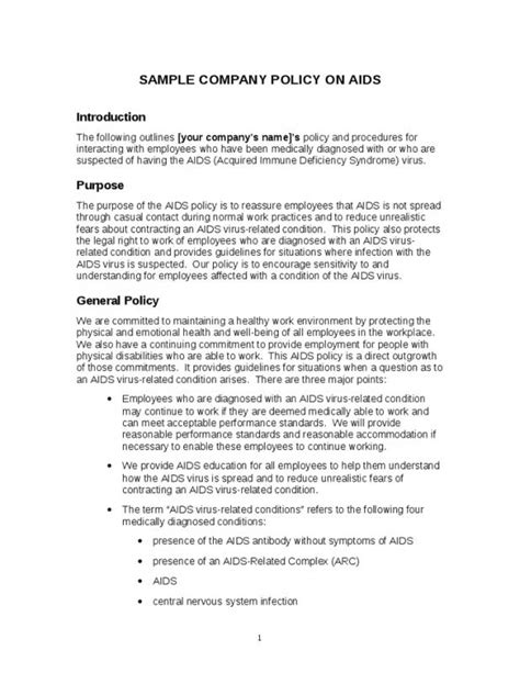 company policy manual template company policy template template business