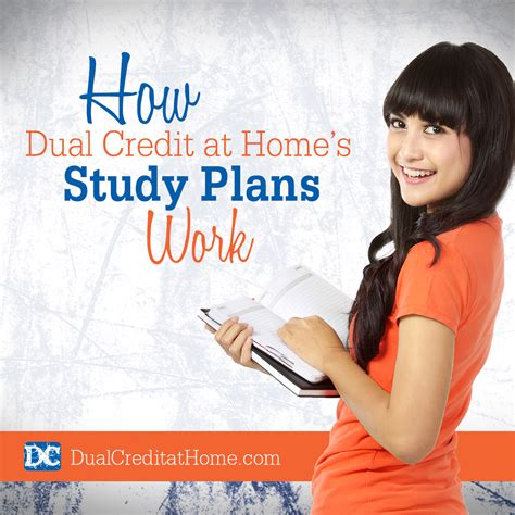 how dual credit at home s study plans work