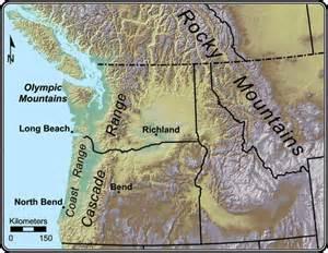 oregon mountain ranges map cascade mountain range