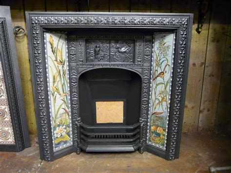 victorian arts crafts tiled fireplace insert 156ti