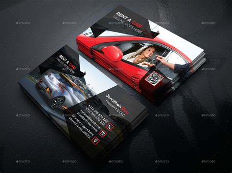 Rent A Car Business Card Template Free by Rent A Car Business Card By Designsign Graphicriver