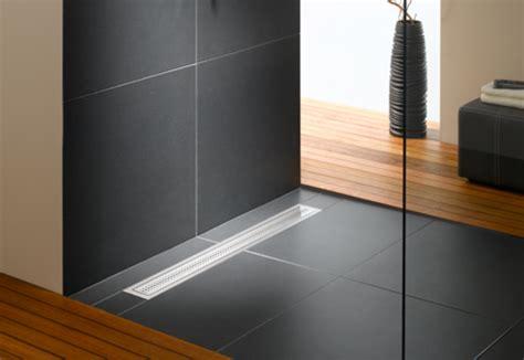 bathtub drain system floor level shower system poresta bfr universal drain board by illbruck stylepark