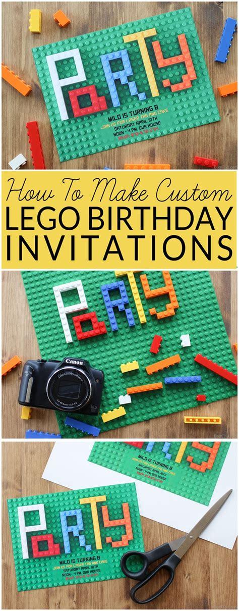 lego birthday invitations how to make lego invitations bren did