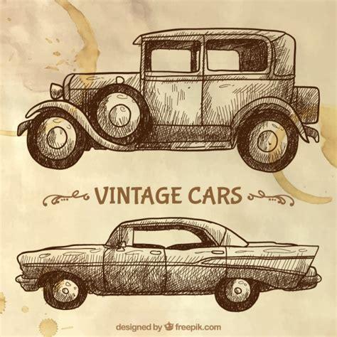 imagenes retro autos bocetos de coches vintage descargar vectores gratis