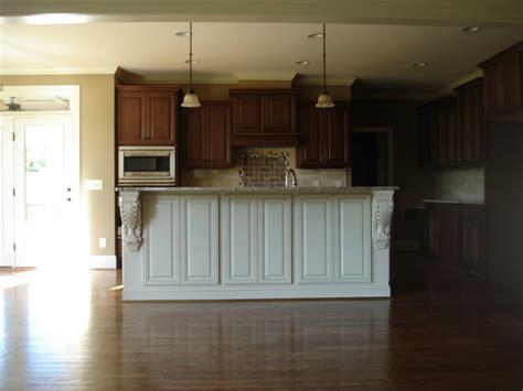 White Kitchen Cabinet Handles bishop cabinets cherry w off white custom painted island