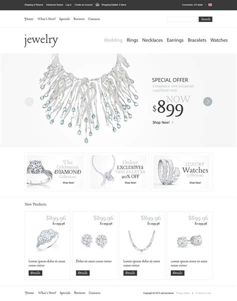 jewelry templates swell jewelry oscommerce template web design templates