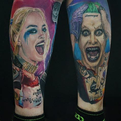 jokers tattoo e piercing image result for harley quinn and joker tattoo just