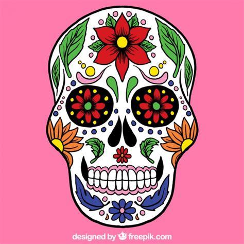 imagenes de una calaveras mexicanas calavera de az 250 car con la decoraci 243 n colorida descargar