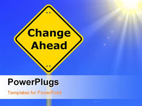 change powerpoint template change your business for financial success shown by road