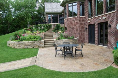 Concrete Patio And Retaining Wall Designs Terraced Retaining Wall Patio Design