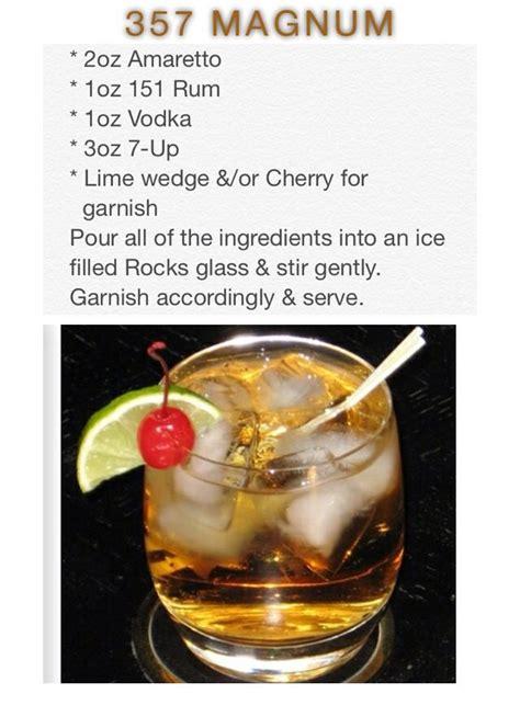 Magnum Detox Drink Ingredients by 357 Magnum Cocktails Alcoholic Drinks