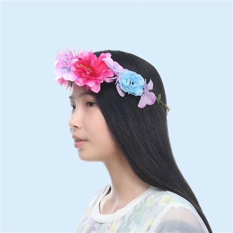 Handmade Headband - handmade flower garland floral crown headband hair