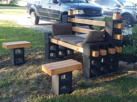 cinder block patio bench diy cinder block bench home design garden architecture blog magazine