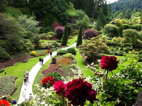 enjoying  butchart gardens  high tea   empress