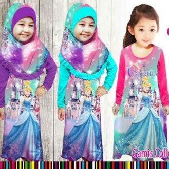 Baju Muslim Anak Perempuan Gambar Frozen 15 model baju muslim frozen untuk anak perempuan 2017