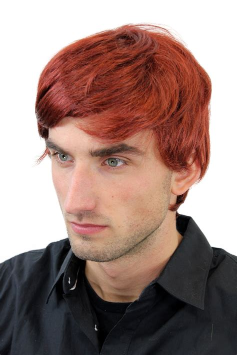 short ginger male wig male wig men wig short red parting redhead gfw1281 131 men