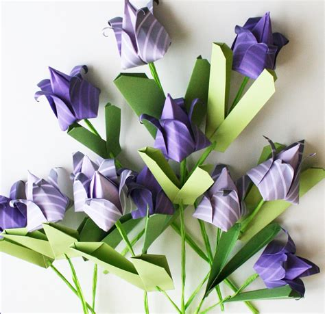 Origami Tulips Bouquet - items similar to origami tulips handmade paper totally