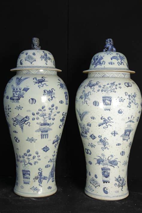 weisse vasen porzellan big pair blaue und wei 223 e chinesischen ming porzellan