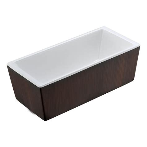 7 Ft Bathtub by Universal Tubs Sunstone 5 7 Ft Acrylic Center Drain Oval Bathtub In White Hd3468ss The Home Depot