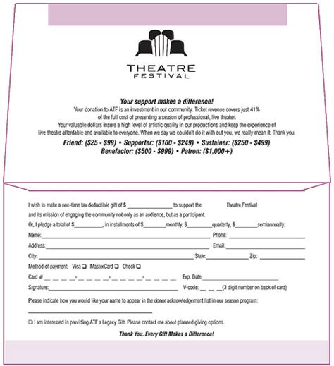 Non Profit Donation Card Template Envelopes by Theatre Festival Donation Envelope Inside Flickr