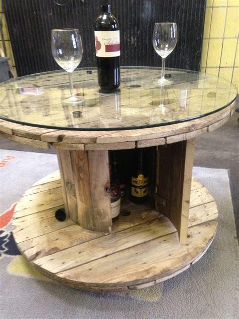 kabeltrommel tisch diy bar table temple home