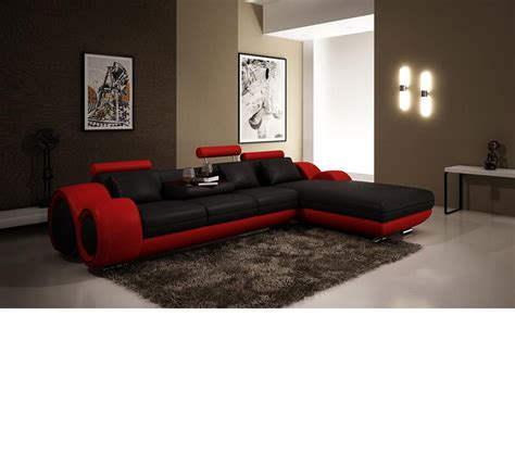 modern leather sofas and sectionals dreamfurniture com 4085 modern leather sectional sofa