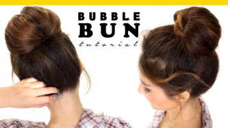 2 minute bun hairstyle easy hairstyles for medium