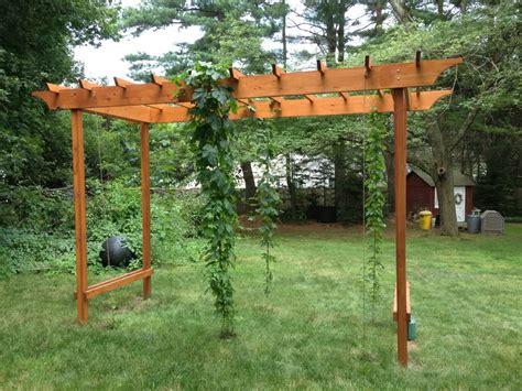 Hop Pergola Idea Gardening Pinterest Pergola Ideas Backyard Trellis Ideas