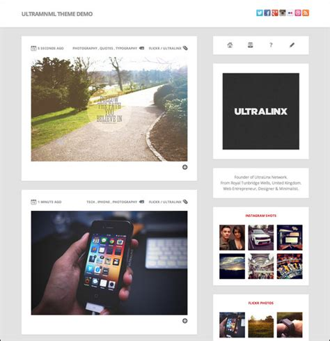 themes tumblr site 20 terrific tumblr themes net features website magazine