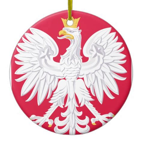 poland eagle christmas ornament zazzle