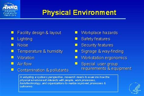 Home Layout Design by Physical Environment Slide Presentation From The Ahrq