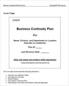 continuity of operations plan template sle business continuity plan template 13 free