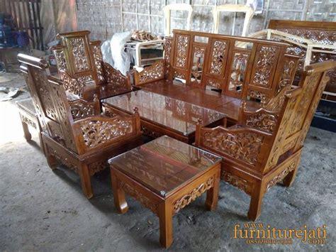 Kursi Bambu Satu Set Semarang set kursi hongkong anggur motif bambu pusat mebel jati
