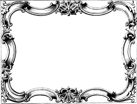 clipart frame classic clipart border pencil and in color classic