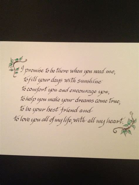 custom wedding vows family prayers bible verses on paper expert calligraphy by liz 40 00