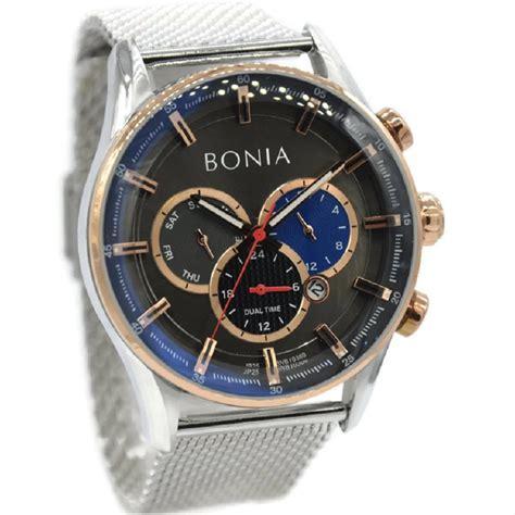 jual jam tangan pria bonia bnb  stainless steel
