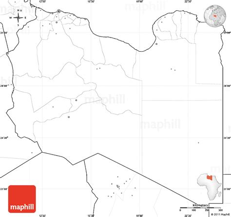 Libya Map Outline by Blank Simple Map Of Libya No Labels