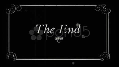 Silent Title Card Template Hd by Oldfilm The End Fin End Title Stock 7745660