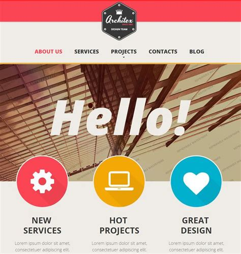 Web Design Homepage by Template 47150 Architecture Responsive Website Template