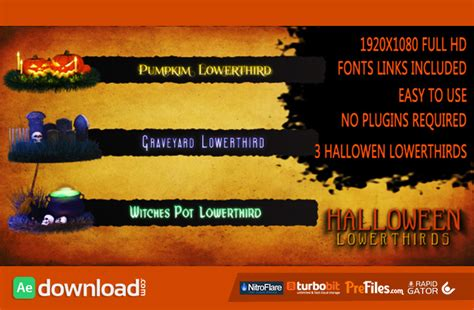 template after effects halloween free halloween lower thirds videohive project free download
