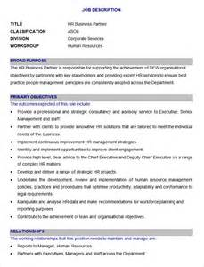 business manager description template 45 hr description templates hr templates free