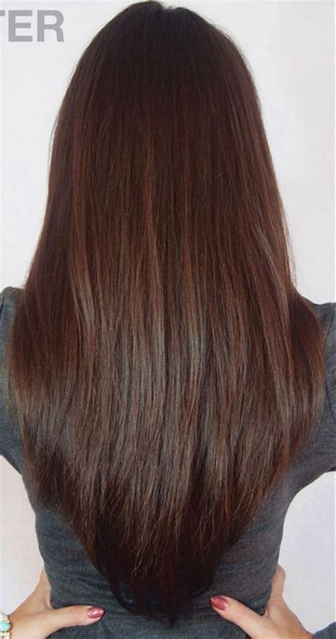 layered vs shingled hair long layered v cut haircuts back view the v cut hairstyle